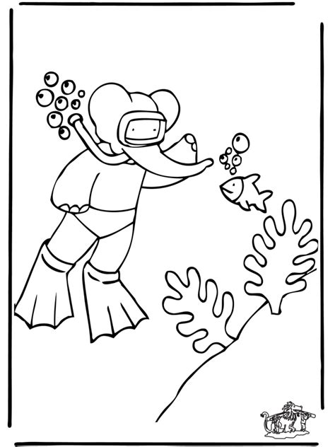 scuba diving coloring sheets printable coloring pages
