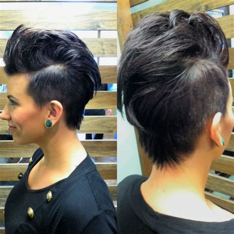 feminine mohawk 1000 ideas about female mohawk on pinterest undercut