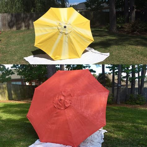 Rustoleum Spray Paint Coral Patio Umbrella Diy Updated Paint Patio Umbrella