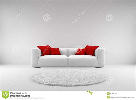 red couch with pillows white couch with red pillows stock illustration
