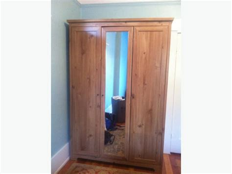 3 door armoire ikea aspelund armoire wardrobe with mirror 3 doors