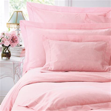 pink gingham bed linen cologne cotton traditional