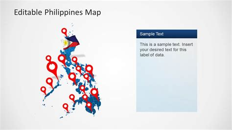 editable philippines map template for powerpoint slidemodel