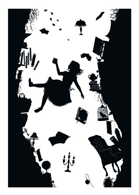 silhouette tattoo paper instructions silhouette art alice wonderland recherche google diy