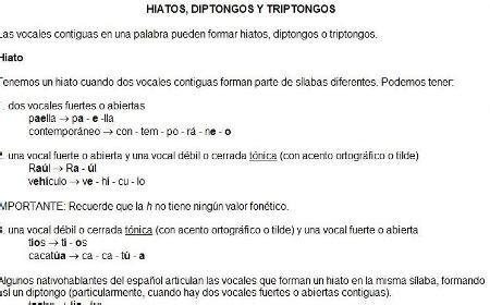 teor a de diptongos triptongos e hiatos diptongos triptongos e hiatos tercer ciclo salesianos