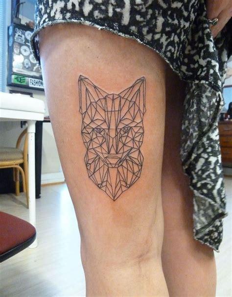 geometric tattoo fox ideas flawssy