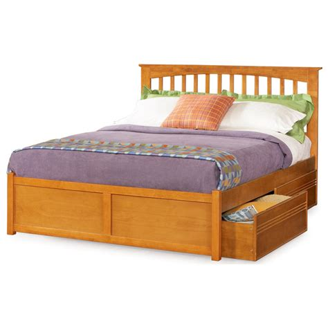 Flat Platform Bed Platform Bed W Flat Panel Footboard And Drawers Dcg Stores