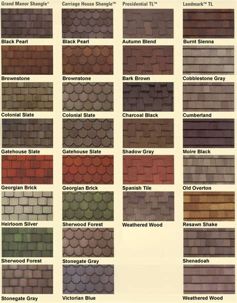 asphalt roof shingles colors roofing shingles roof colors names and colors
