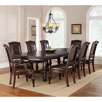 9 piece dining room set marceladick com addison 9 piece dining set