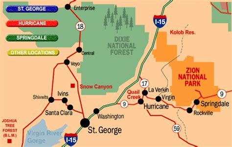 map of st george utah maps