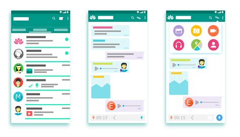 whatsapp layout vector free vector graphic whatsapp interface apps android