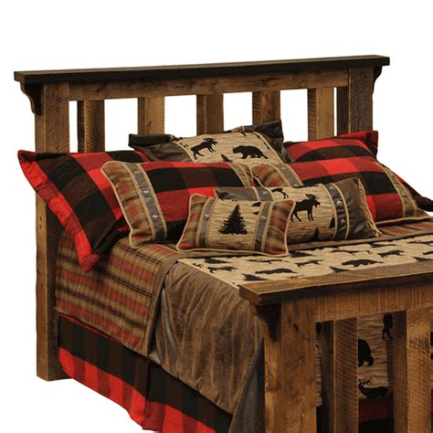 Rustic King Size Headboard by Rustic Headboards King Size Barnwood Post Headboard Black
