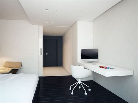 Minimalist Bedroom Office Apartment Minimalist Home Office Design Ideas At Russian