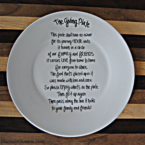 Giving Plate DIY   DiscountQueens.com