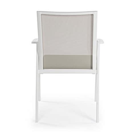 sedia alluminio esterno sedia da esterno cruise by bizzotto in alluminio impilabile