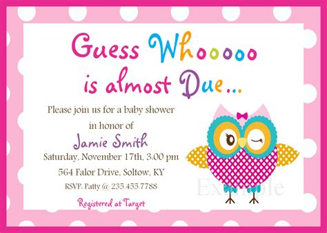 printable invitations for a baby shower free printable baby shower invitations for girls