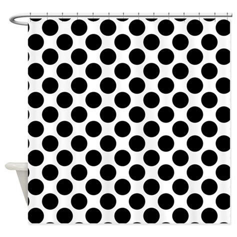 black and white polka dot curtains white and black polka dots shower curtain by polkadotted
