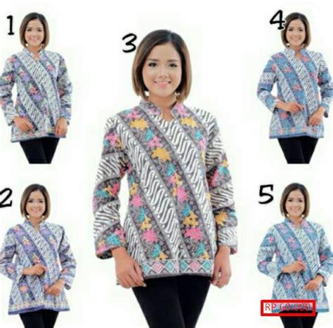 Baju Blus Batik Cewek Modern Khas Pekalongan 29 model baju batik wanita dengan lengan panjang terbaru