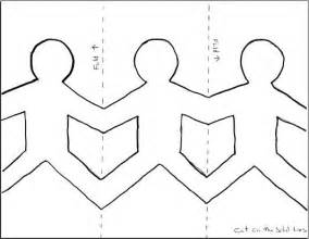 Family Cut Out Templates by Paper Dolls Holding Template Search Clw