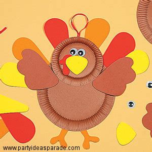 Paper Plate Turkey Crafts - thanksgiving craft ideas