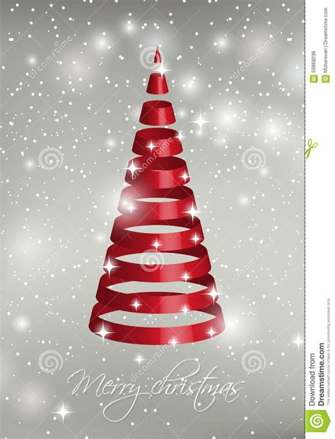 silver ribbon for tree ribbon tree on silver background stock