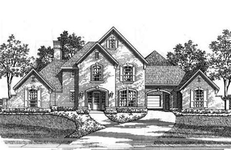Country Estate House Plans by Classic Country Estate Home 15410hn