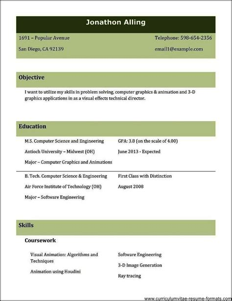 resume sles for experienced professionals free download