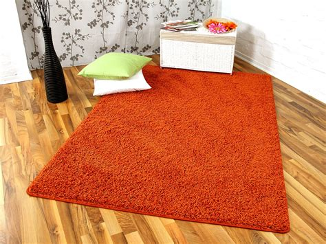 teppiche orange hochflor langflor teppich shaggy orange in 24 gr 246 223 en