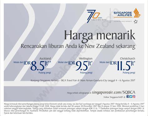 bca singapore airlines bca singapore airlines travel fair 2017 katalogpromosi