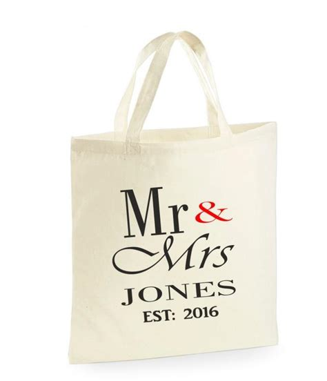 Wedding Gift Ideas Personalised by Personalised Mr Mrs Bag Wedding Gifts For The