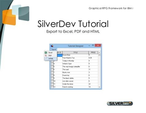 tutorial excel expert pdf tutorial ibm i apps export to excel pdf html with