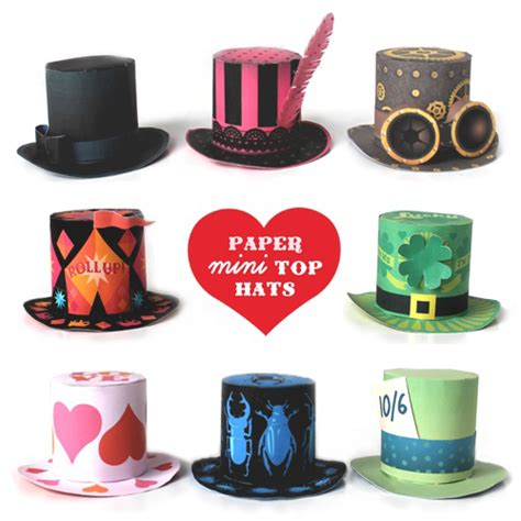 How To Make A Paper Top Hat - how to make a mini top hat plus 8 hat templates to