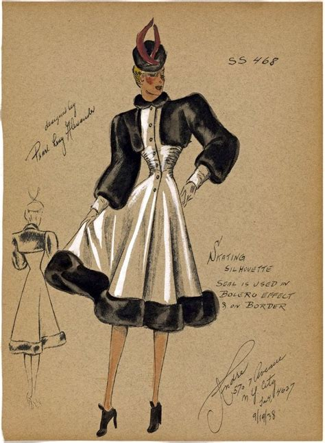 New Studio C Sketches by The Paper Collector Andr 233 Fashion Studios 1930 1941 40s