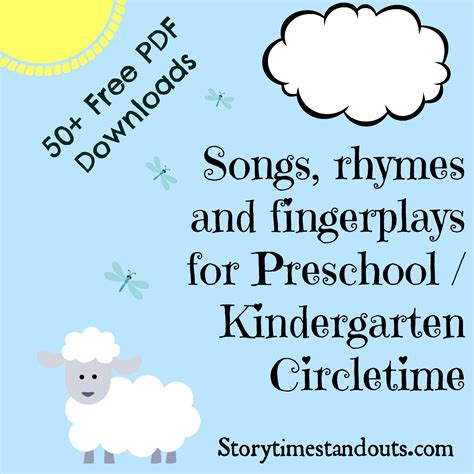song for kindergarten storytime standouts looks at rebus chants
