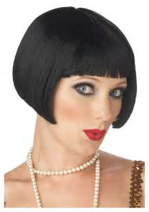 80s Decorations Black Flapper Bob Wig 1920s Flapper Costume Wigs