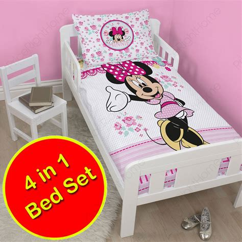Minnie Mouse Bed Set by Minnie Mouse Handmade 10 2cm 1 Junior Cot Bed Bedding
