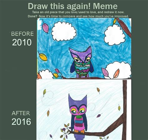 How To Draw An Owl Meme - meme draw this again owl by dogemememe on deviantart