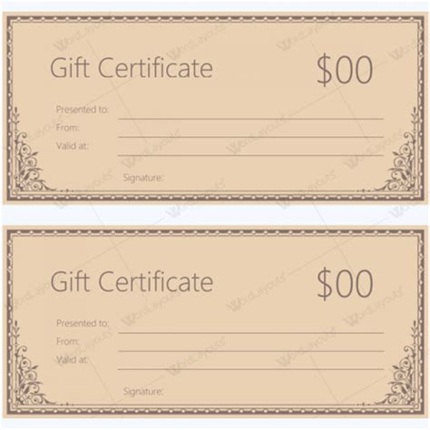 fillable gift certificate template fillable gift certificate template free 28 images gift