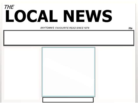powerpoint newspaper template blank newspaper template for powerpoint images