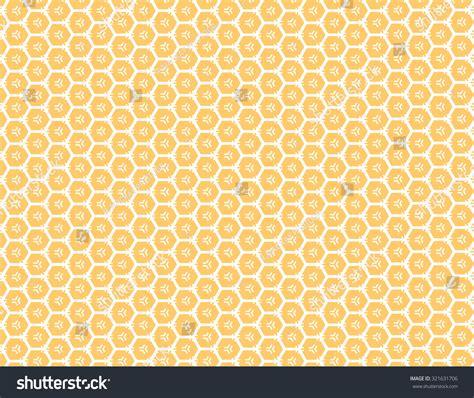 pattern over background orange honey comb pattern over white background stock