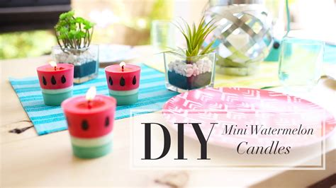 Cute Bedroom Ideas For Teenage Girls diy watermelon candle how to make candles ann le youtube