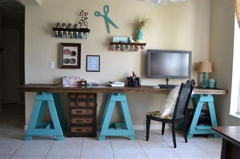 craft room desk how to build a sawhorse desk for both rustic and modern offices