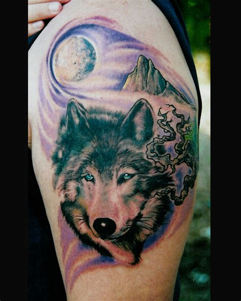 wolf howl tattoo tattoo pictures