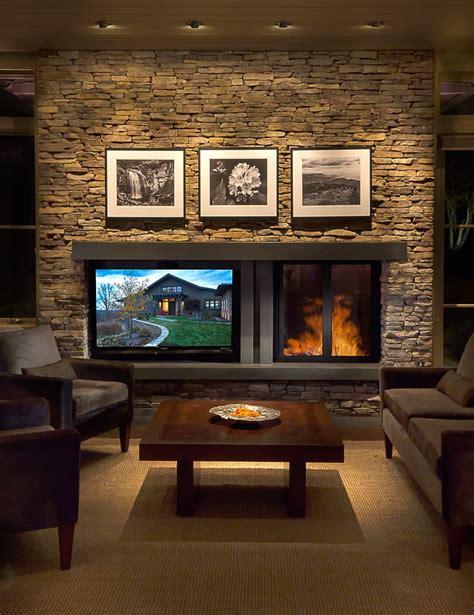 creating balance   fireplace  television
