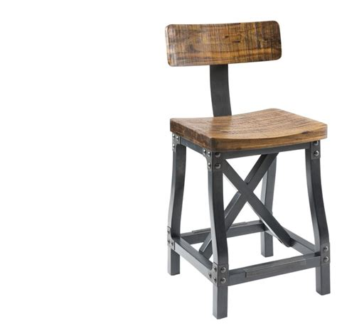 industrial counter height stools lancaster counter height wood and metal bar stool