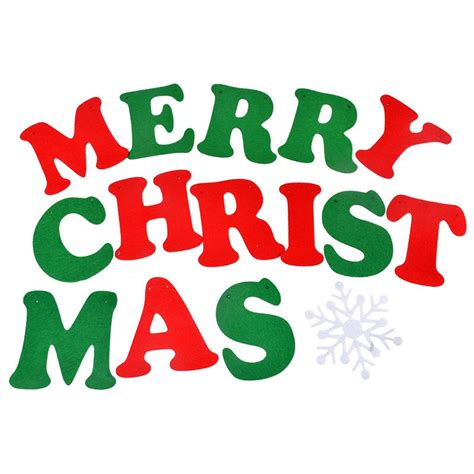 christmas flags banner garland alphabet letters merry christmas nonwoven fabric christmas