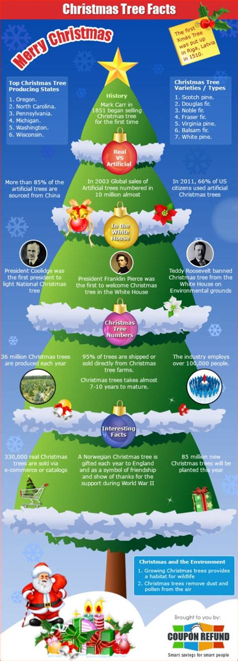 top christmas facts top 5 tree infographics