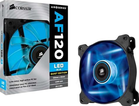 Air Series Af120 Led Blue Edition High Airflow 120mm Pack corsair air series af120 led blue edition high