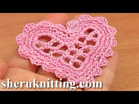 crochet heart pattern free youtube crochet mesh heart tutorial 11 valentine s day wedding