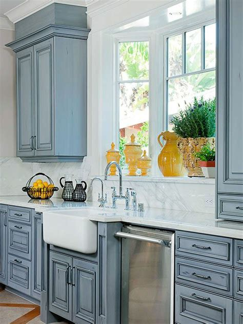 painted kitchen sink cabinets window sill decoration the colours of nature through